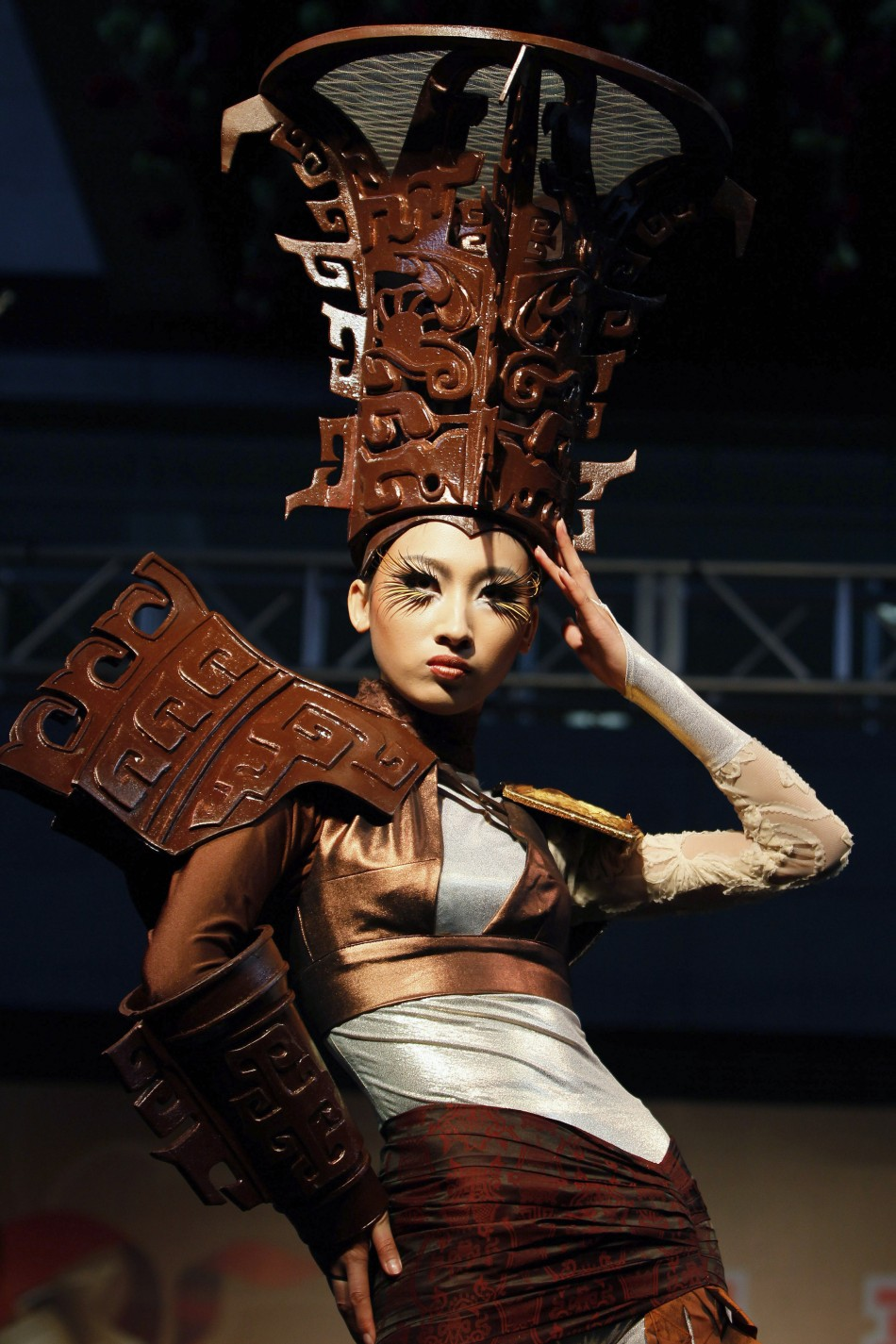 Chocolate Fashion Show: Models in Edible Clothes at World ...