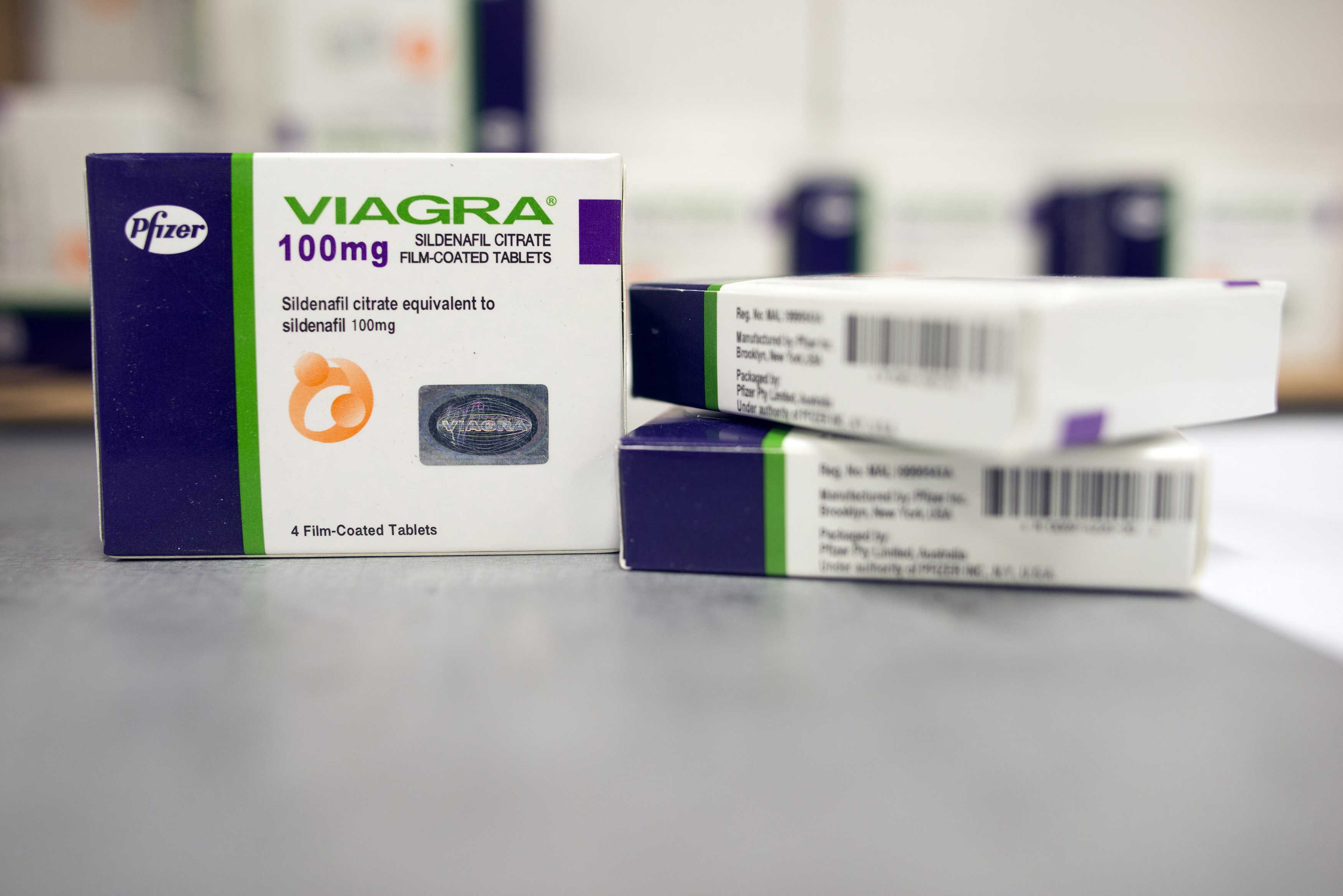 What pharmaceutical company makes viagra