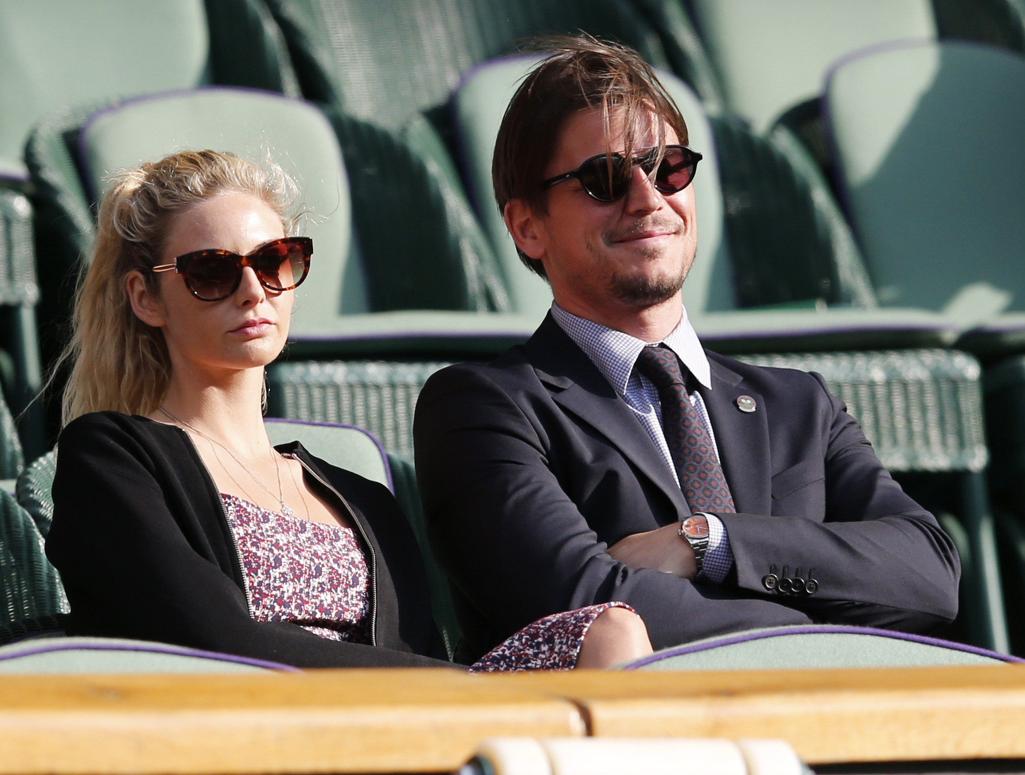 josh hartnett tamsin egerton attend wimbledon chat royal couple