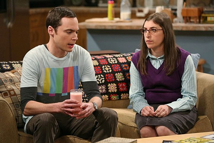 Image result for amy and sheldon fight