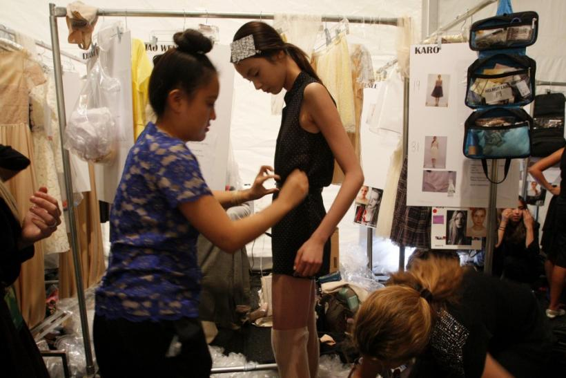 NYC Fashion Week - Models Getting Ready at the Backstage