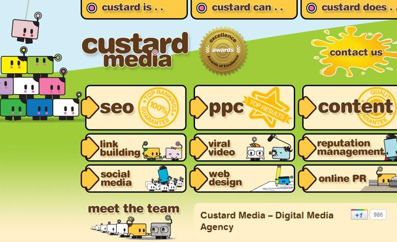 6. Custard Media Solutions - Top UK SEO Companies 2012