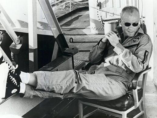 John Glenn Relaxing after Space Flight