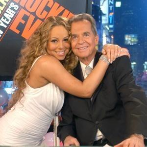 "Dick Clark with Mariah Carey on ""New Year's Rockin' Eve"""