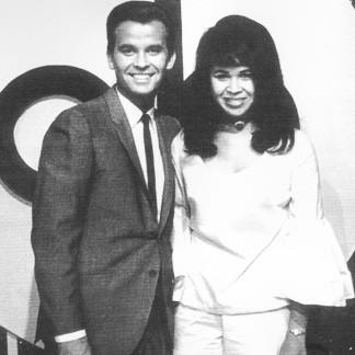"Dick Clark with Sunday Heppner on ""American Bandstand"""