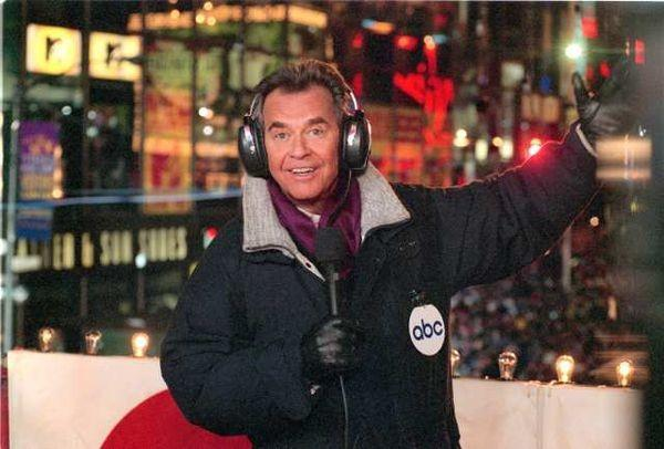 "Dick Clark Outside During His ""New Year's Rockin' Eve"""