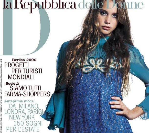 Hannah Davis on the cover of Italian D Magazine