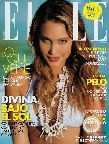 Hannah Davis on the cover of Mexico Elle, August 2009