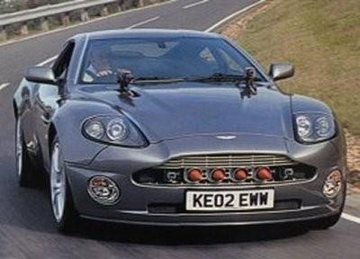 "3)	James Bond's invisible Aston Martin Vanquish from ""Die Another Day"""