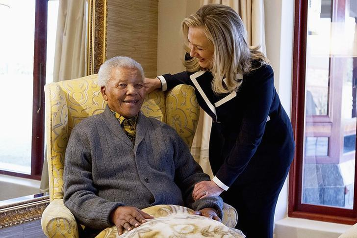 Clinton And Mandela, Aug. 6, 2012