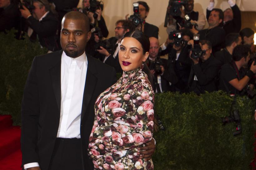 Kanye West and Kim Kardashian at the 2013 Met Gala