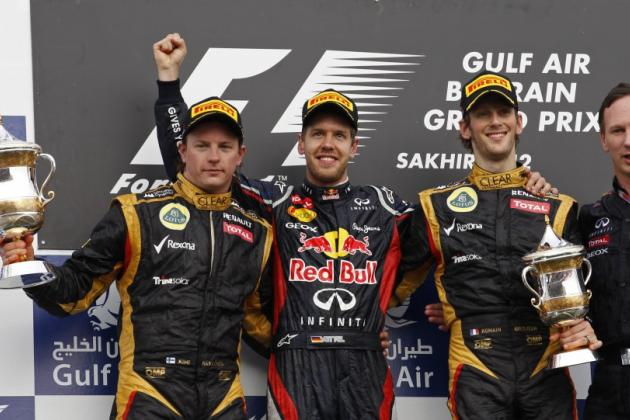 F1 Bahrain GP: Red Bull, Vettel takes First Win of 2012