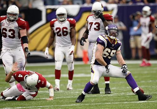 Minnsota Viking's Jared Allen Must be Penalized After His Hit on Chicago