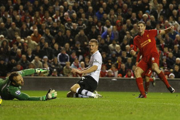 Top 5 Premier League Player Rankings: Steven Gerrard Nets As Liverpool Win By Four