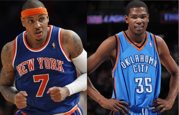 Carmelo Anthony & Kevin Durant Duel For Scoring Title