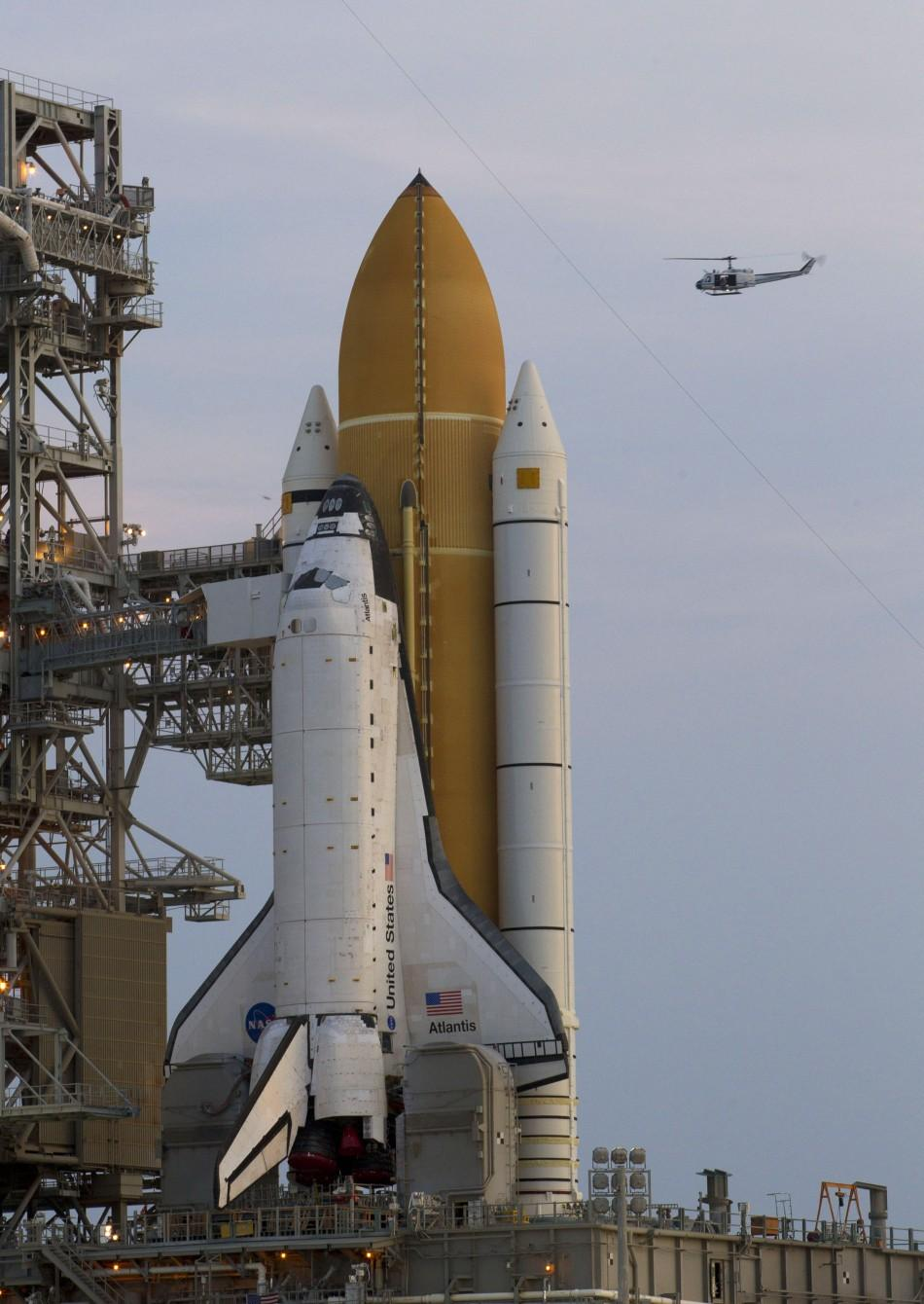 Nasa Space Shuttle Atlantis Sits On Launch Pad Waiting