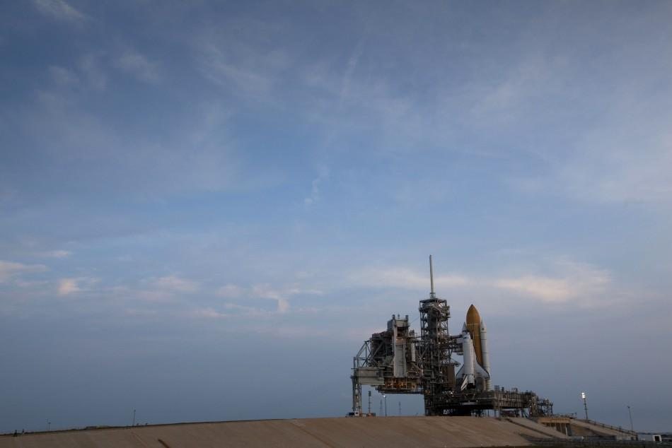 NASA Space Shuttle Atlantis Sits on Launch Pad