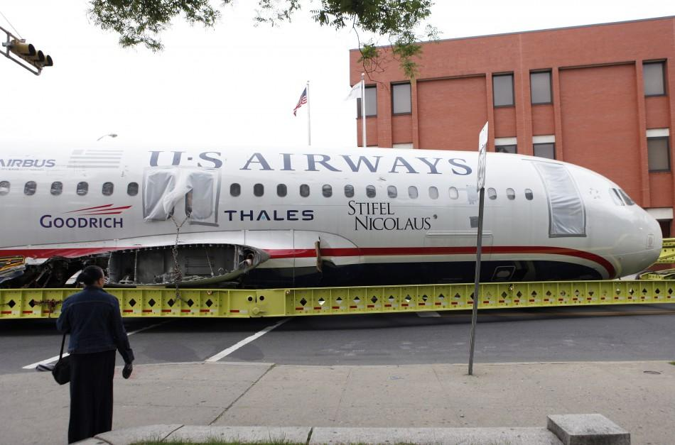 Wingless 'Miracle on Hudson' jet heads for museum