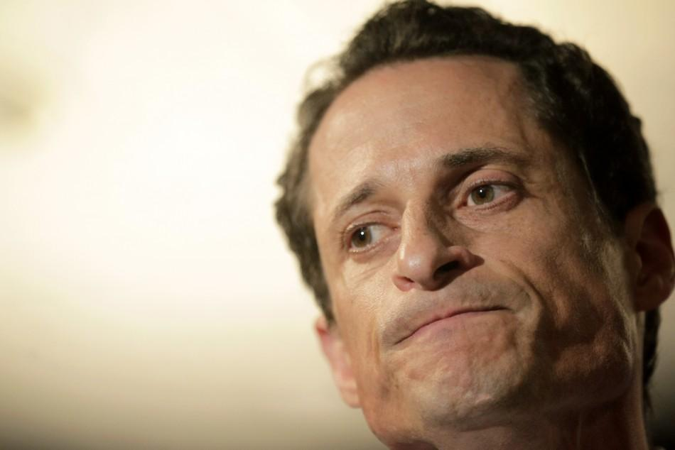U.S. Congressman Anthony Weiner speaks to the press in New York