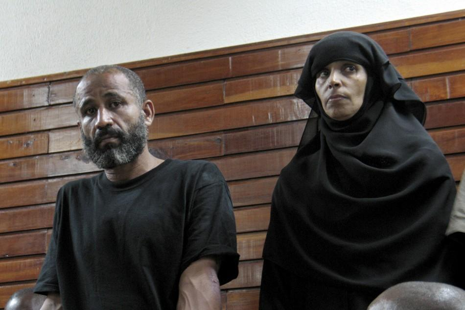 Hemed and his wife Abubakar stand inside the law courts in the Kenyan Coastal city of Mombasa