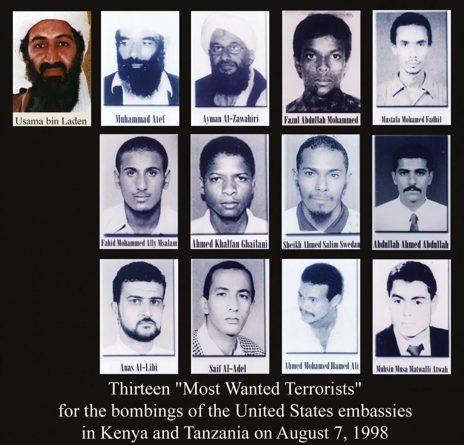 "- UNDATED FILE PHOTOS - showing the thirteen men listed as ""most wanted terrorists"" and released by .."