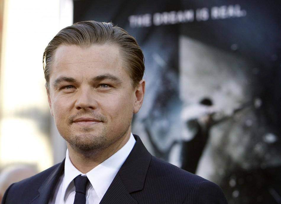 "DiCaprio poses at the premiere of ""Inception"" at the Grauman's Chinese theatre in Hollywood"