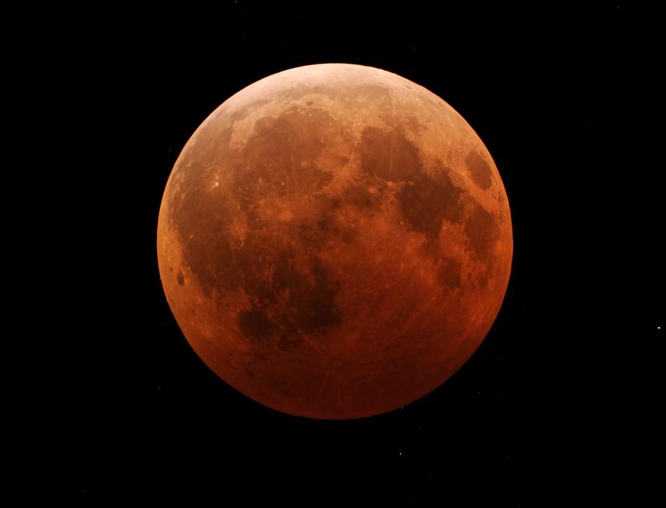 Red Glow of Total Lunar Eclipse