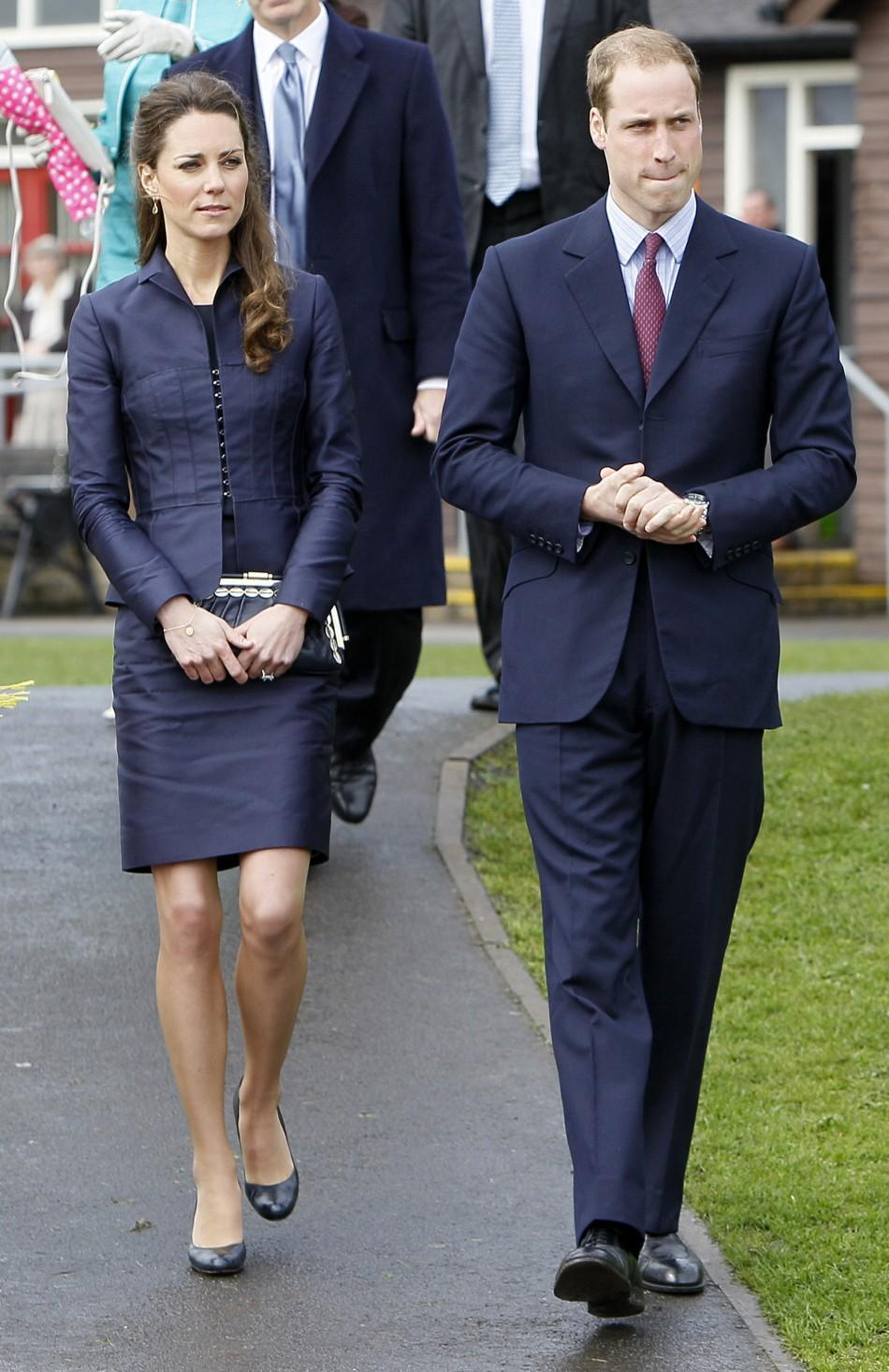 Britain's Prince William and his Catherine