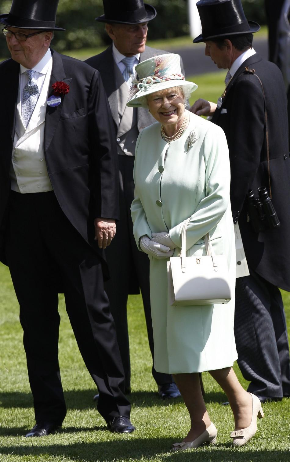 Britain's Queen Elizabeth arrives for the first day of racing at Royal Ascot in southern England