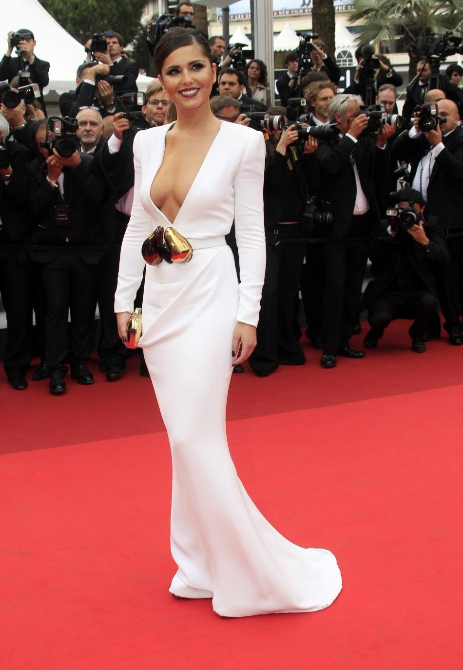 Pop singer Cheryl Cole arrives on the red carpet for the screening of the film Habemus Papam in competition at the 64th Cannes Film Festival,