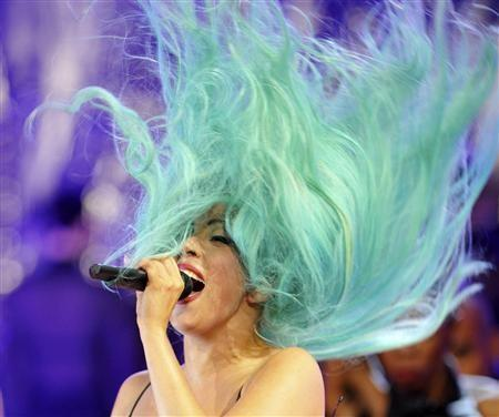 "Lady Gaga performs ""Born This Way"" during the MuchMusic Video Awards in Toronto, June 19, 2011."