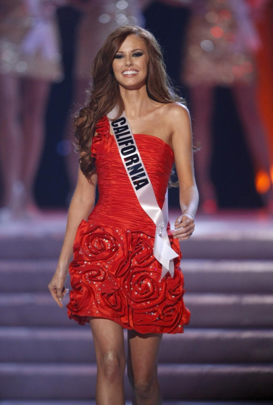 Miss California Alyssa Campanella arrives to introduce herself during the 2011 Miss USA pageant in the Theatre for the Performing Arts at Planet Hollywood Hotel and Casino in Las Vegas, Nevada June 19, 2011.