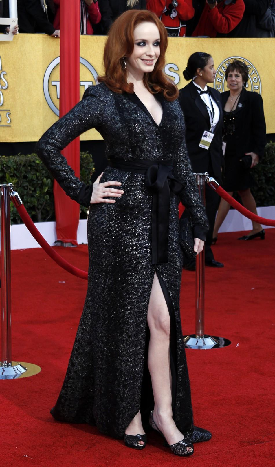 "Actress Christina Hendricks from the television show ""Mad Men"", arrives at the 17th annual Screen Actors Guild Awards in Los Angeles, California January 30, 2011."