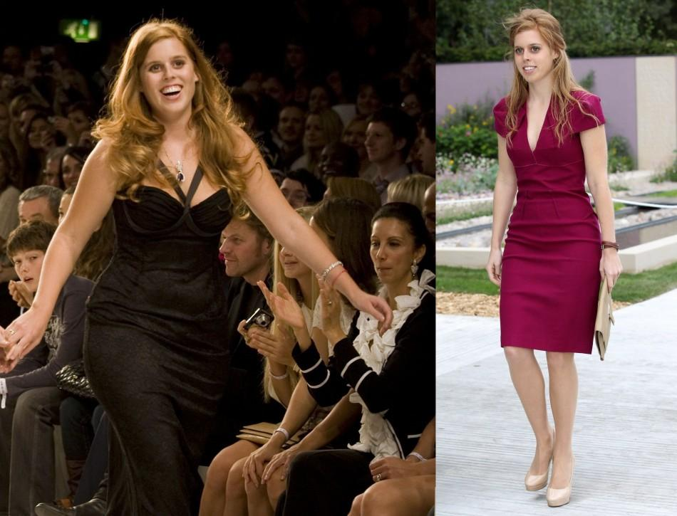 Stunning, slim and elegant: Princess Beatrice then and now.