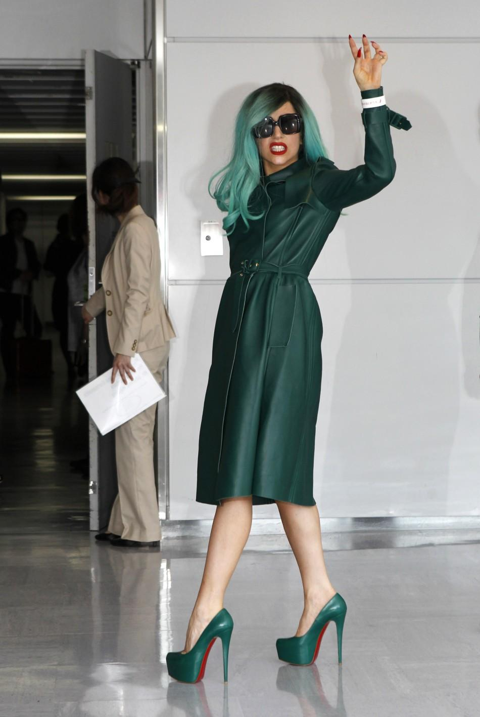 Lady Gaga arrives in Japan