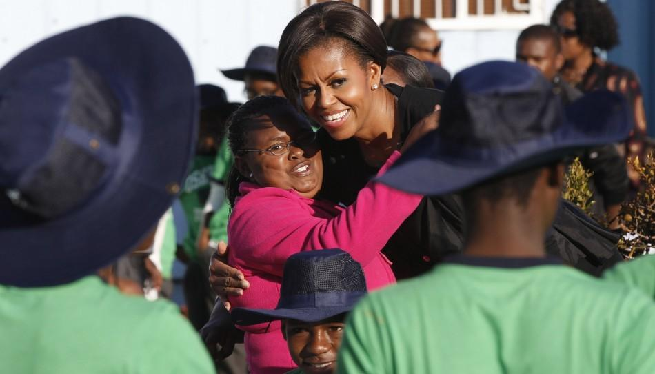 Michelle Obama hugging