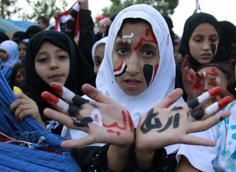 Art amidst Yemen unrest: Unique pictures of hand art by protestors.