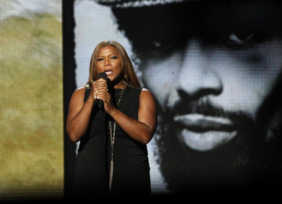 "Queen Latifah performs ""The Revolution Will Not Be Televised"" in memoriam to Gil Scott Heron at the 2011 BET Awards in Los Angeles, California June 26, 2011."