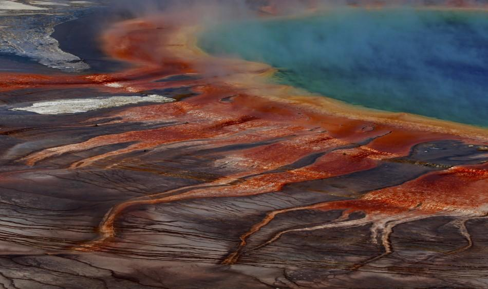 The Grand Prismatic Spring, the largest in the United States and third largest in the world, is seen in Yellowstone National Park