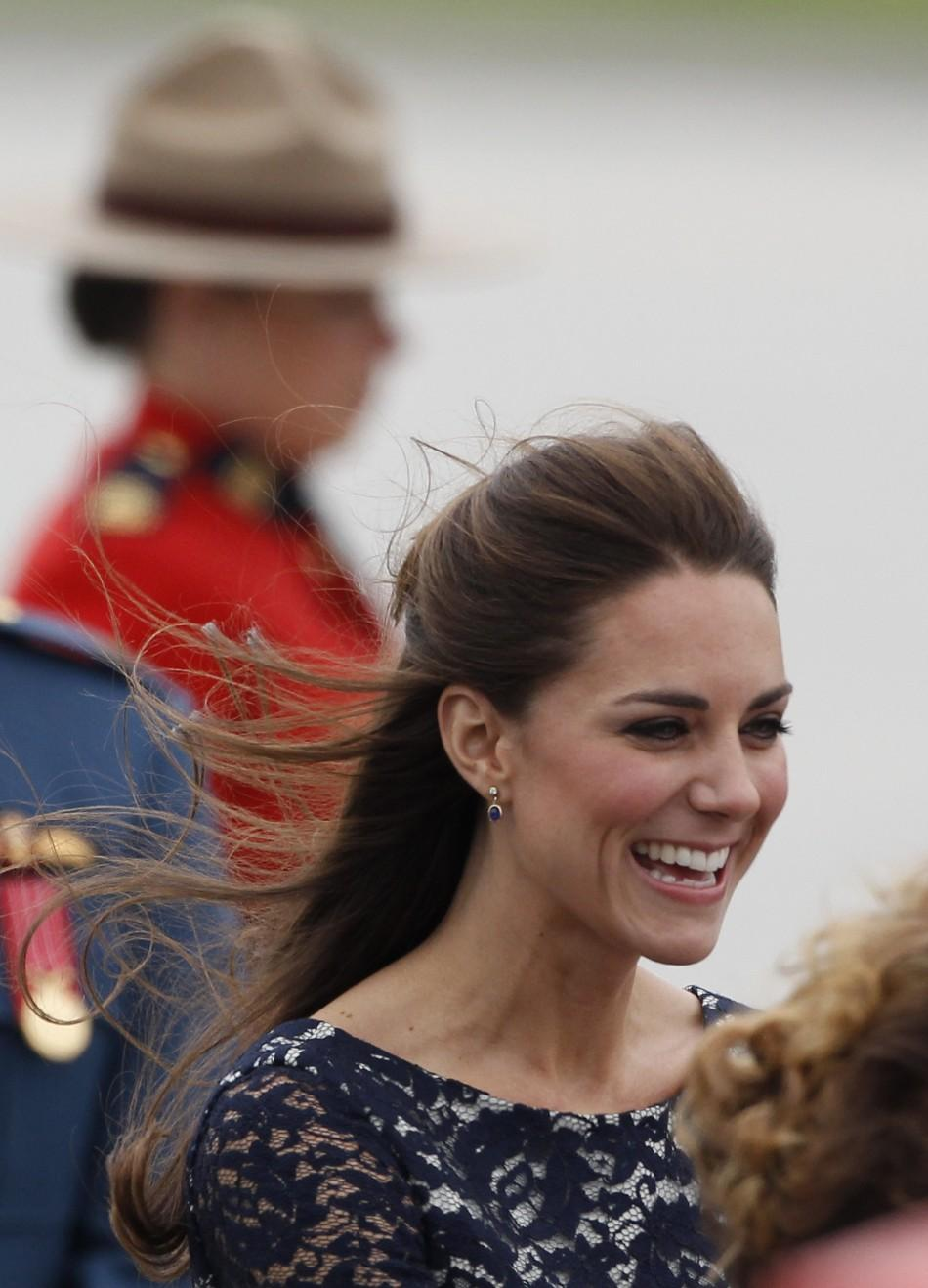Kate Middleton embraces Canada's windy weather in style