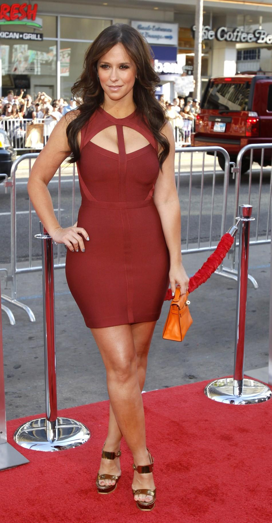 "Hewitt poses at the premiere of ""Horrible Bosses"" at the Grauman's Chinese theatre in Hollywood"