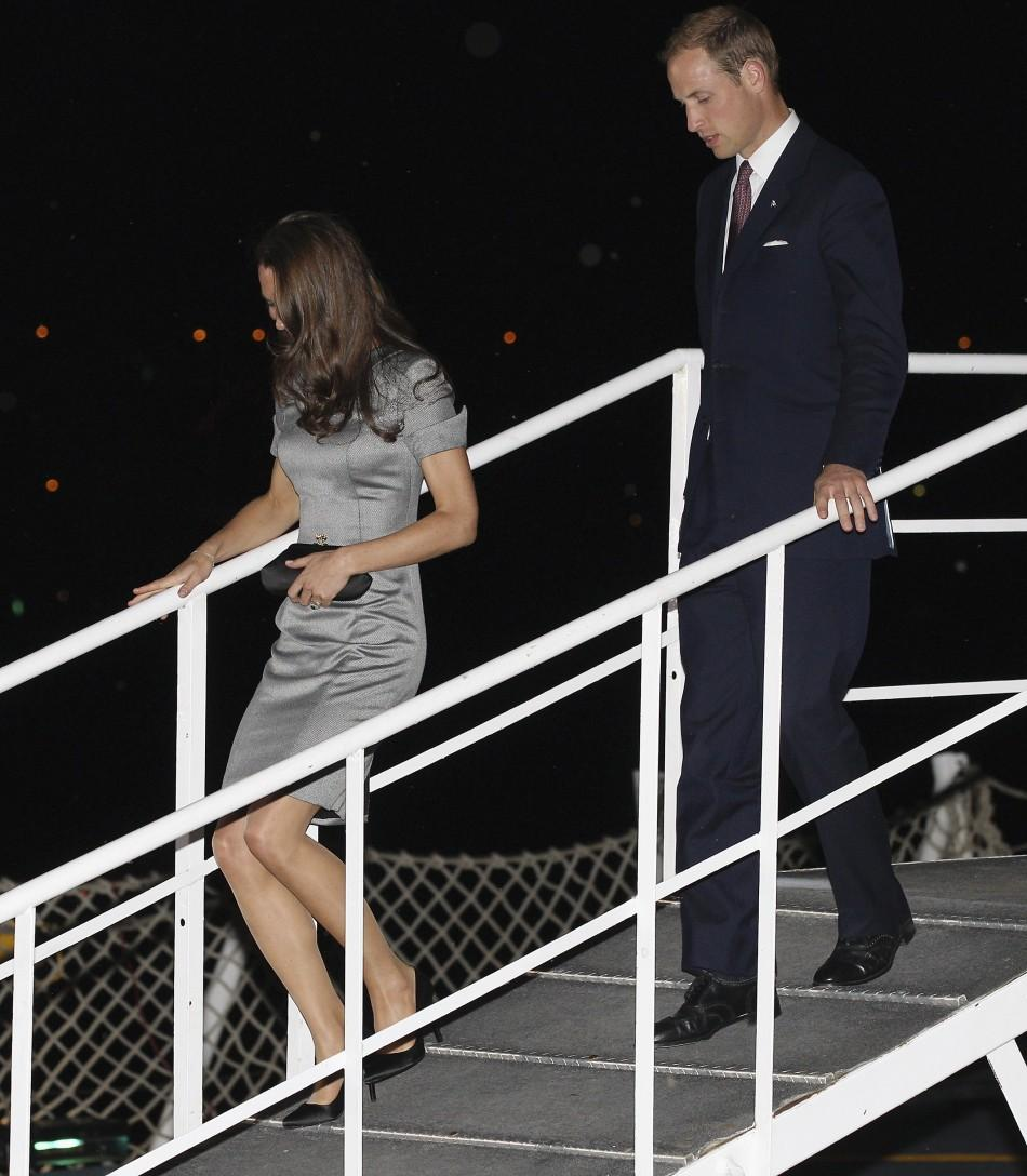 Prince William and Catherine, Duchess of Cambridge arrive on board HMCS Montreal in Montreal