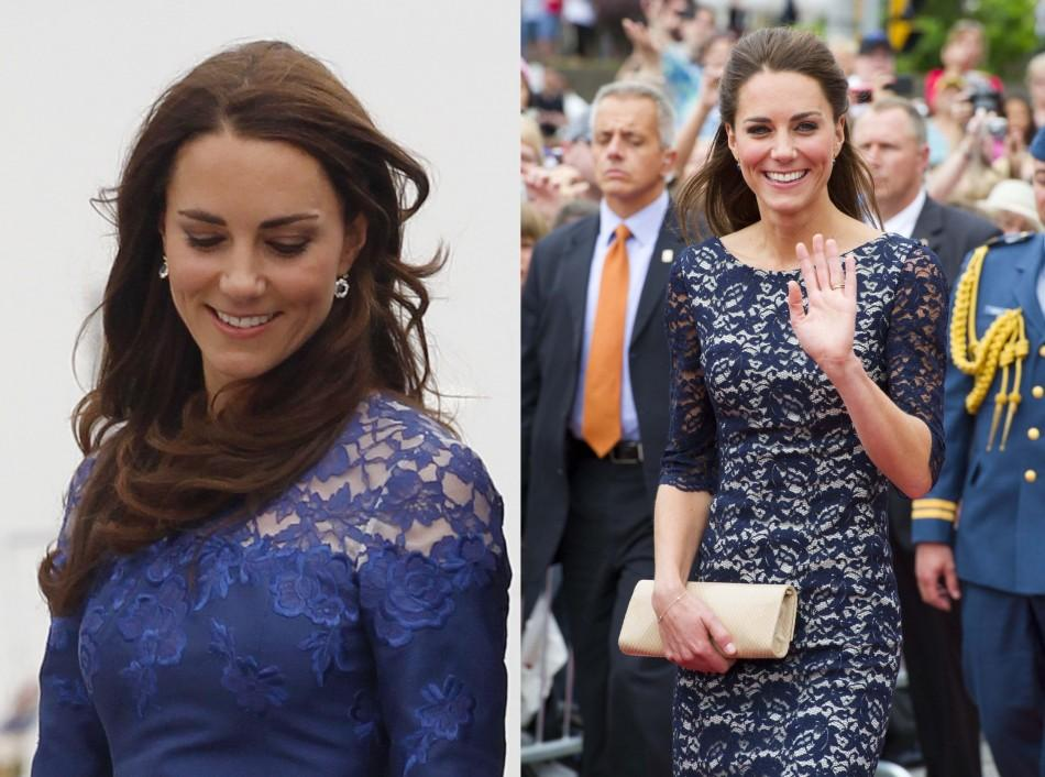 Kate Middleton in two Erdem lace dresses