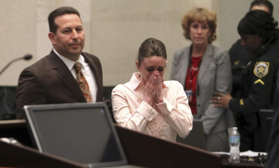 Casey Anthony, with Her Attorney Jose Baez