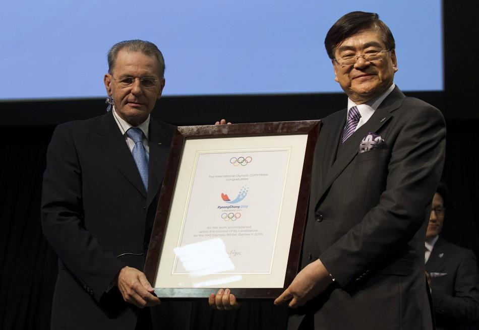After failing in two previous attempts, the South Korean city of Pyeongchang was awarded the 2018 Winter Olympics on Wednesday.