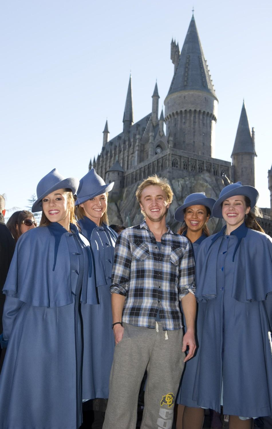 Felton visits The Wizarding World of Harry Potter