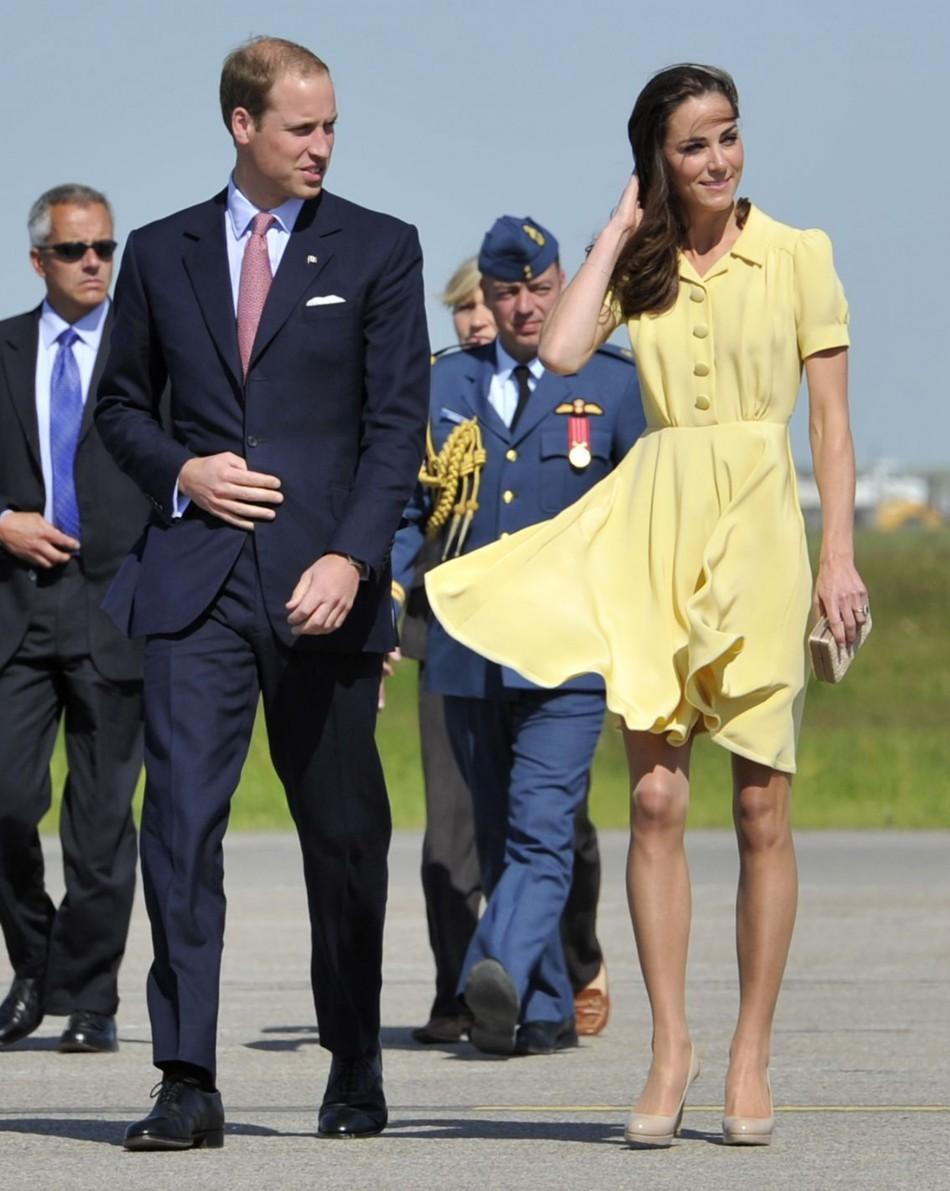 Kate Middleton Yellow Dress Plus Wind Equals Almost A