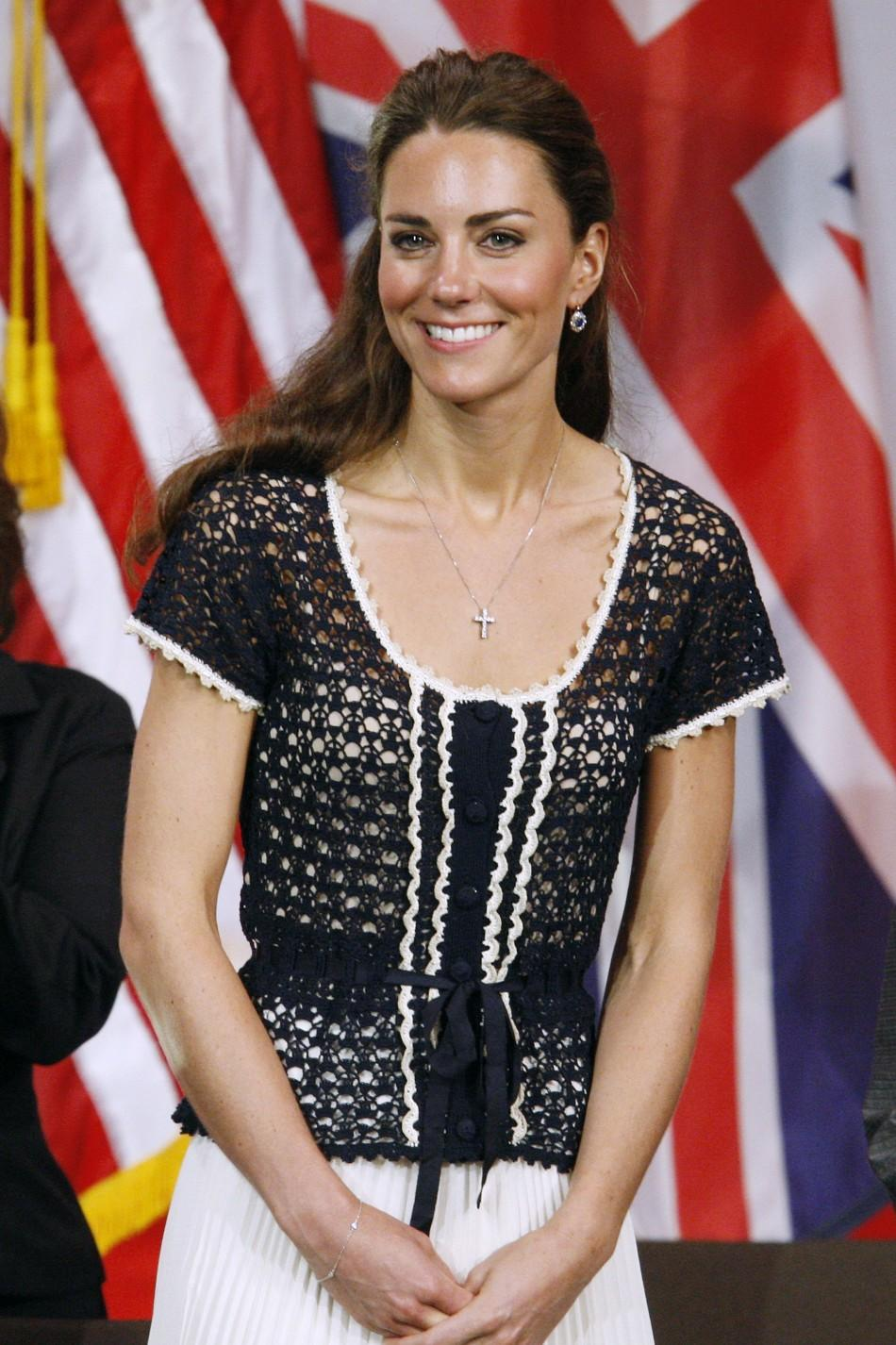 Kate in a crochet top and rayon skirt by Whistles