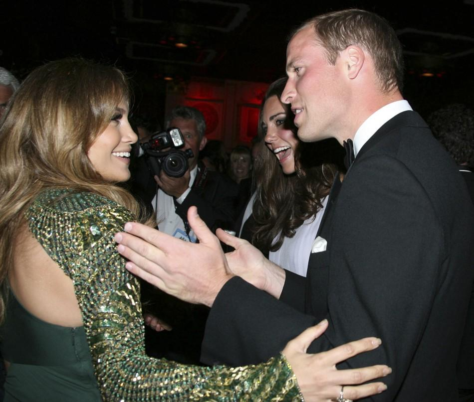 Prince William Chats with the Guests (including Jennifer Lopez)