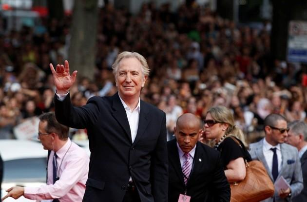 """Cast member Rickman arrives for premiere of the film """"Harry Potter and the Deathly Hallows: Part 2"""" in New York"""